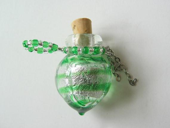 Small lamp work bead bottle