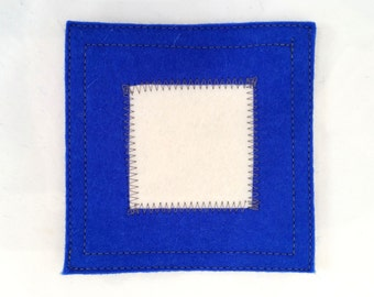 Nautical signal flag letter P wool felt coaster