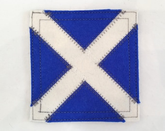 Nautical signal flag letter M wool felt coaster