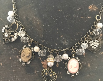 Heart and Cameo Necklace