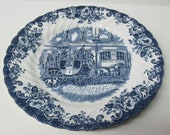 Johnson Brothers England COACHING SCENES 7 7 8 Inch Coach Office SALAD Plate