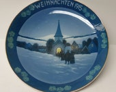 1915 WEIHNACHTEN 8 Inch CHRISTMAS PLATE, Rosenthal Germany