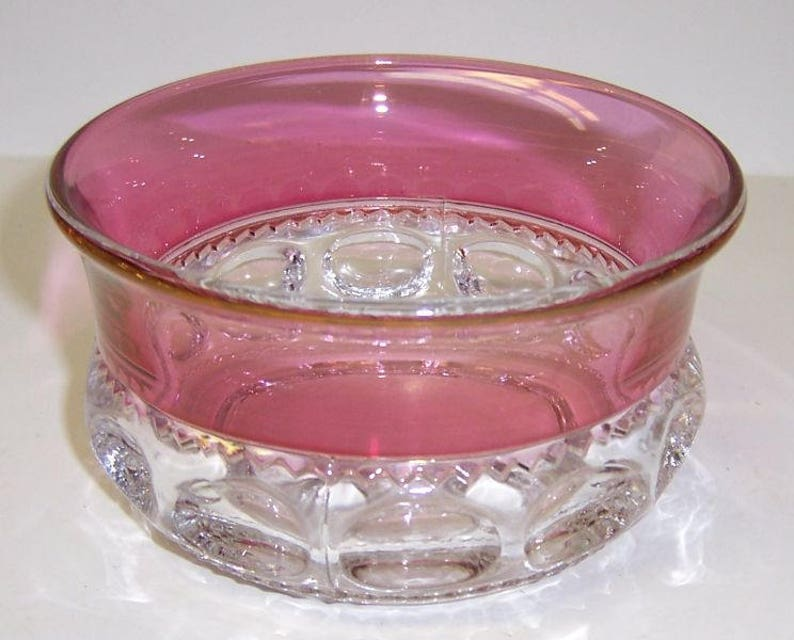 Indiana Glass Cranberry Flashed KINGS CROWN 4 Inch CEREAL Bowl