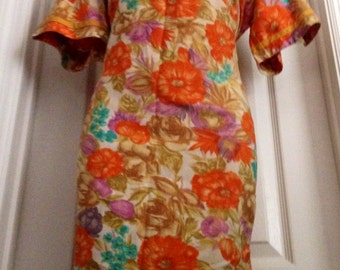 Vintage Embroidered Park East by Swirl Mod Scooter Dress