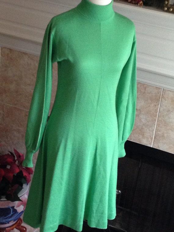 1970's Vintage TurtleNeck Sweater Dress/ Lucky Cha