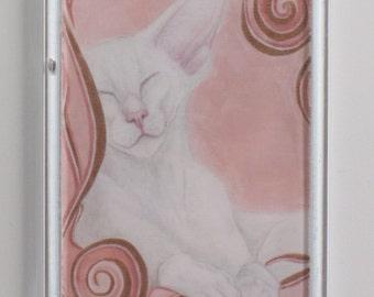 Fridge Magnet - Ayla - White Siamese - Foreign White - Oriental Cat
