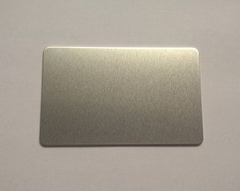Aluminum Wallet Card, 14g Aluminum Credit Card Stamping Blanks Stamping Supplies, Hand Stamping Jewelry Supplies Free Ship