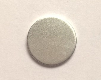 2 7/8 inch Round Ornament, 14g Aluminum Stamping Blanks Stamping Supplies, Hand Stamping Jewelry Supplies Free Ship