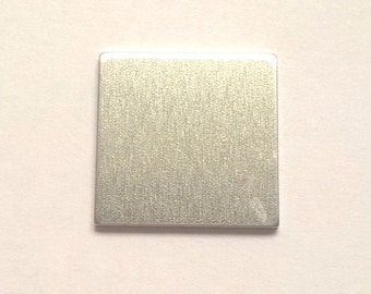 Aluminum Square Stamping Blank 1 inch, 14g Aluminum Stamping Blanks Stamping Supplies, Hand Stamping Jewelry Supplies Free Ship