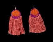 INDUS Earrings (Orange)- ...