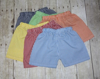 d27f849476b1 Boys Gingham Shorts for Baby Boy, toddler, and Boys Gingham Shorts size 3m,  6m, 9m, 12m,18m, 24m, 2t, 3t, 4t, 5t,6, 7, 8