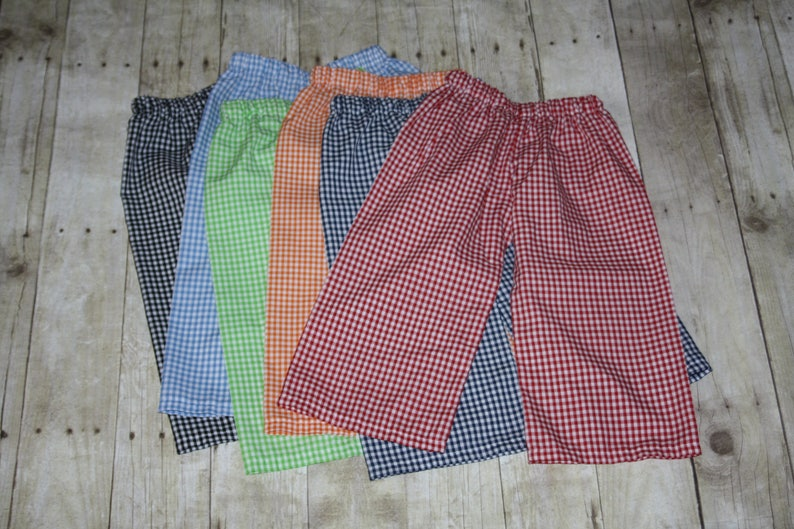 e2b30b634098 Boys Gingham Pants for baby toddler and Boys Gingham Pants