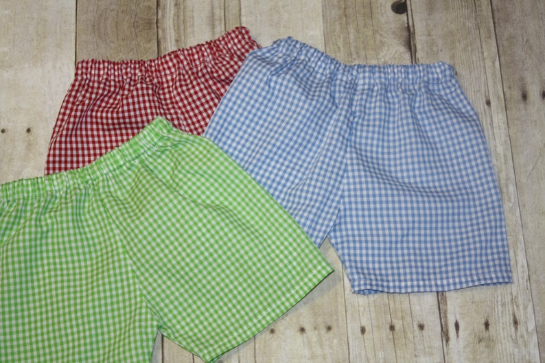 6bd1e7a99e0 Boys Gingham Shorts for Baby Boy toddler and Boys Gingham