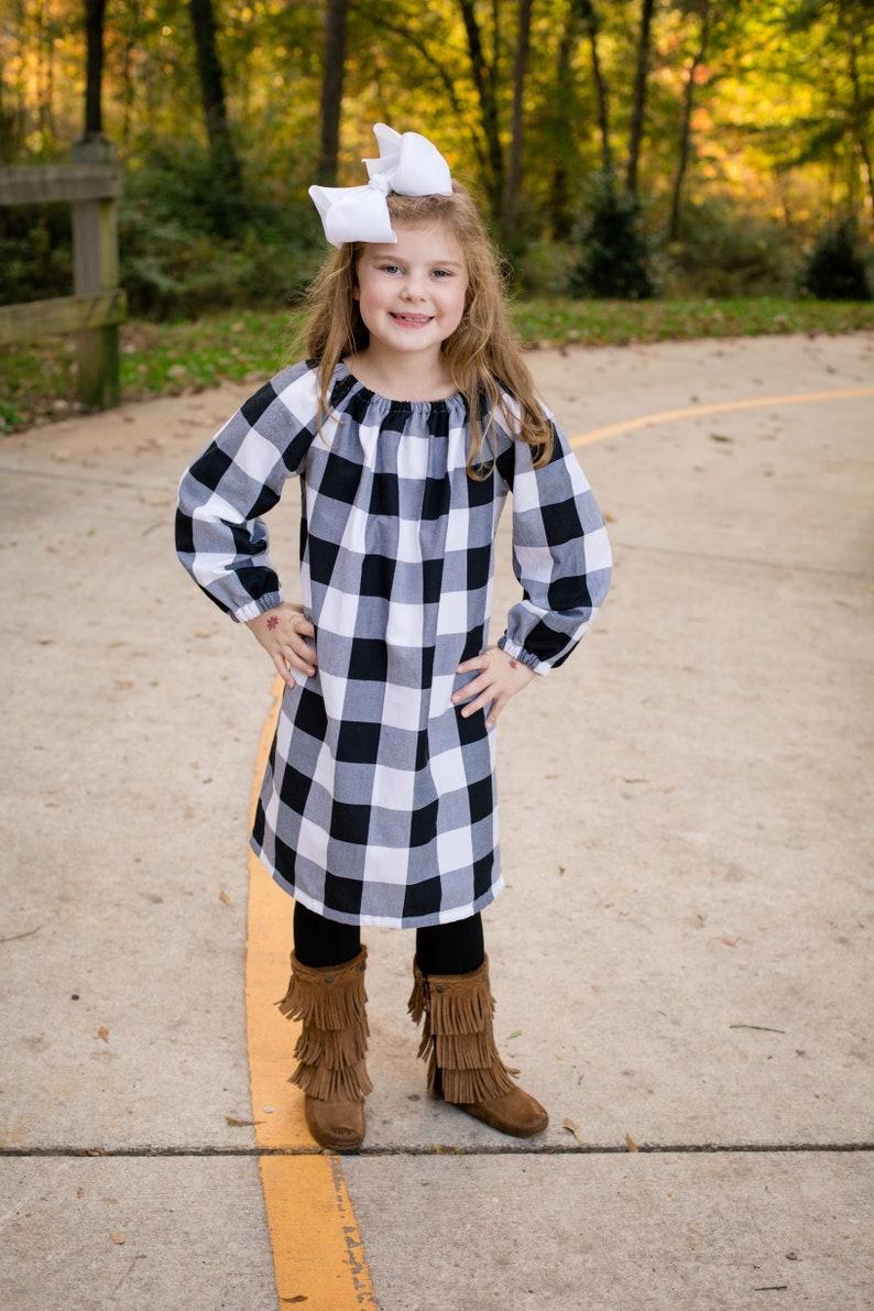 4c1480b4852c Buffalo plaid christmas dress babys first christmas girls | Etsy