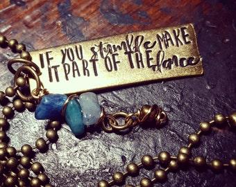 Inspirational necklace; dancer necklace