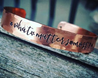 Mantra bracelet, new years resolution reminder