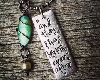 And they lived happily ever after Necklace; wedding present; engagement