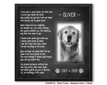 Cat Pet Remembrance Memorial Personalised Keepsake Tribute 8x6 Print in frame with your photo and text Pet Loss