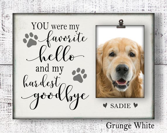 dog memorial picture frame for loss of pet remembrance frame | Etsy