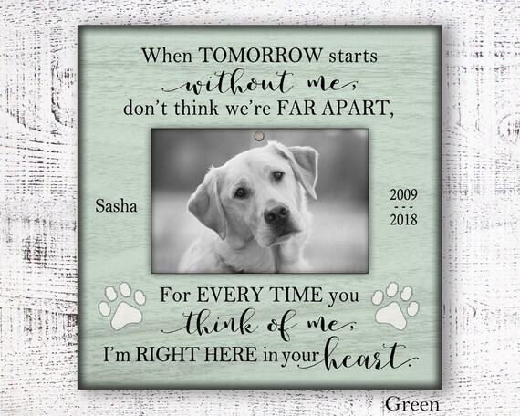 personalized pet sympathy gift personalized pet memorial pet etsy
