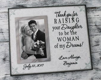 Parent of bride gift, canvas picture frame, wedding picture frame, woman of my dreams, personalized wedding photo frame, custom CAN-318