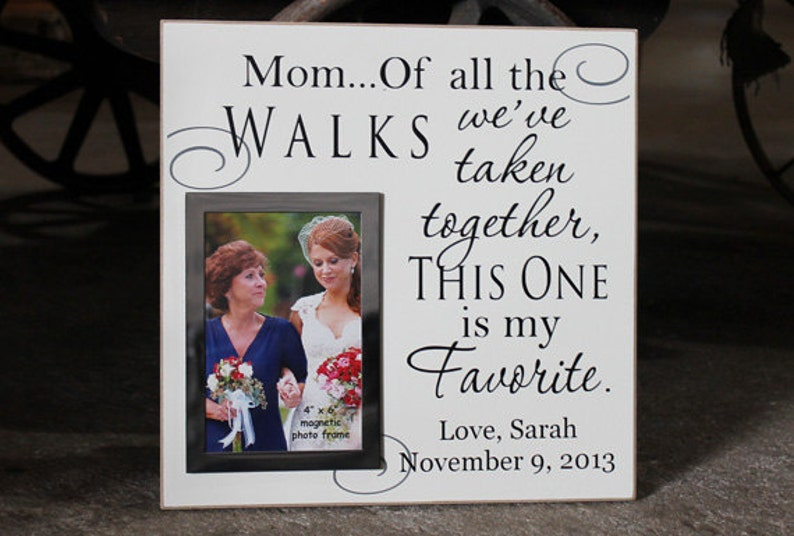 Mothers day gift Wedding gift for mom Christmas FR-010 MOM personalized frame wedding picture frame photo frame mom of all the walks