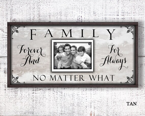 12x24 Picture Frame Family Forever For Always Photo Frame Etsy