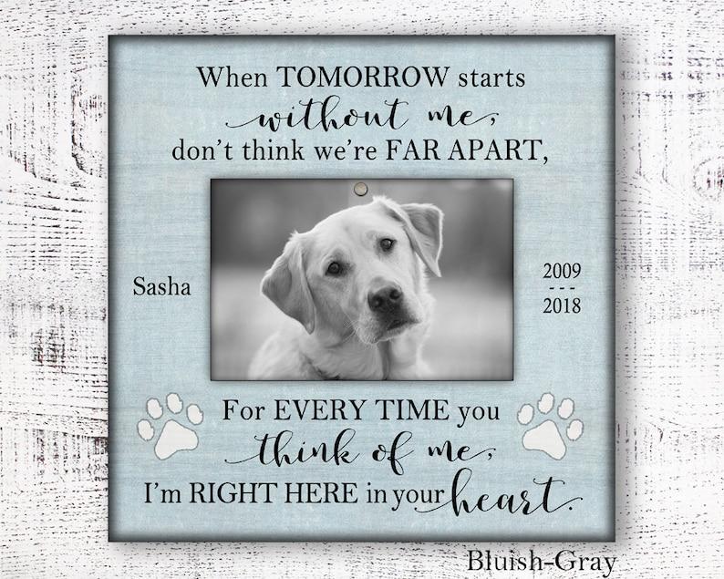 Pet sympathy gift dog memorial gift dog memorial personalized pet loss frame dog bereavement frame 10/% off sale pet sympathy gift