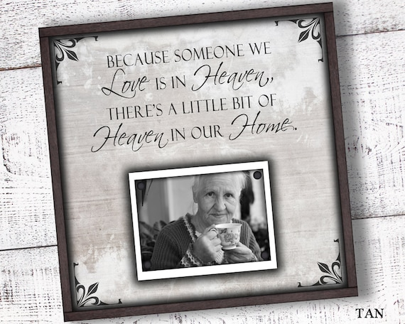 Because Someone We Love Is In Heaven Picture Frame Etsy
