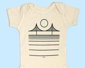 San Francisco Golden Gate Bridge Baby Onesie Natural
