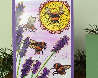 Greeting Cards Blank Fine Art BIrthday Bees Redheads Paper Beautiful Magical Holiday