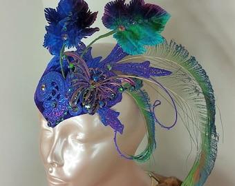 Blue Fascinator Hat//Fascinator Blue//Fascinator//Mini Hat//Fascinator Hat//Wedding Fascinator//Derby Fascinator//Tea Party Fascinator//Hat