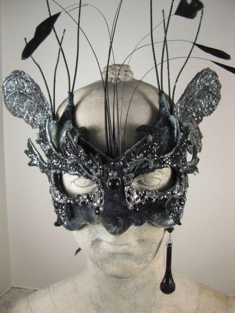 Black and Silver Masquerade Mask