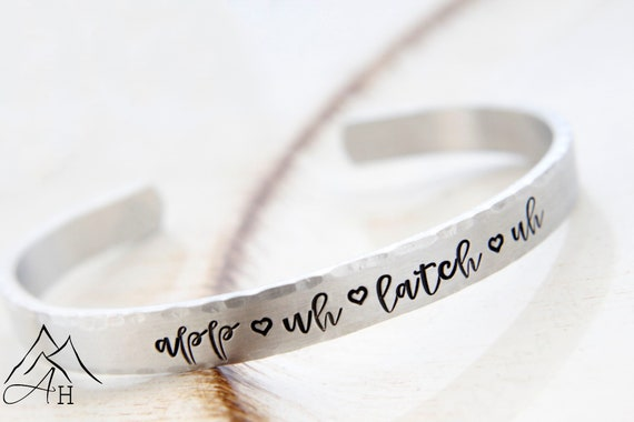 The Road So Far Hand Stamped Supernatural Cuff Bracelet