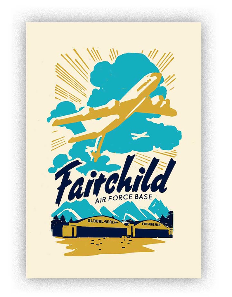 Fairchild AFB handmade screenprint image 0