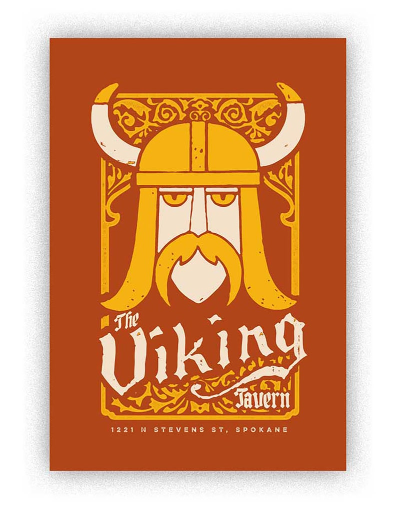 Viking Handmade screenprint image 0