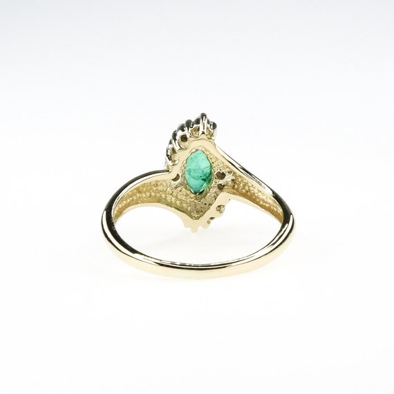 marquise cut emerald, natural emerald ring, emera… - image 7