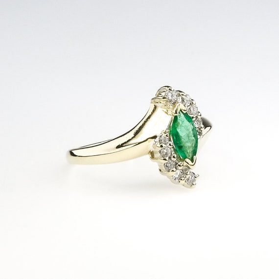 marquise cut emerald, natural emerald ring, emera… - image 5