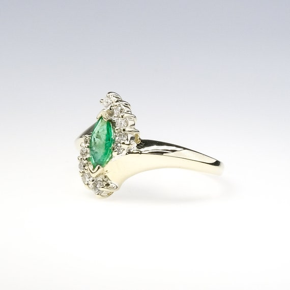 marquise cut emerald, natural emerald ring, emera… - image 6