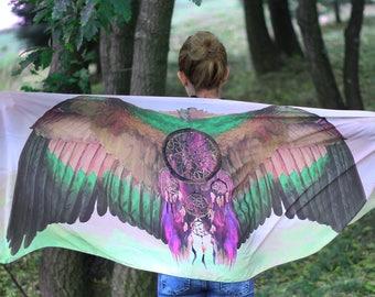 Burning Man Clothing Burning Man Gift Festival Shawl Women Bridesmaid Gift Music Festival Gifts Bird Wings Costume