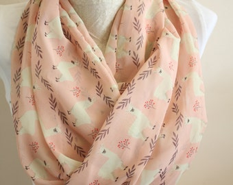 Llama Scarf Animal Scarves Circle Scarf Spring Summer Fall Winter Fashion Christmas Gift For Her For Women