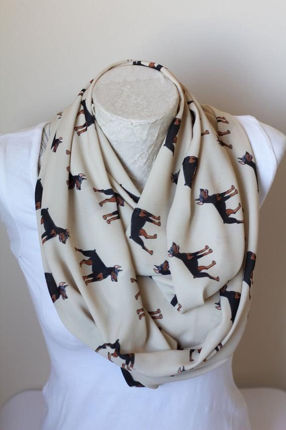 Infinity écharpe Maillot Ou en mousseline de soie blanc Paw Prints Design Fashion Boucle Foulard