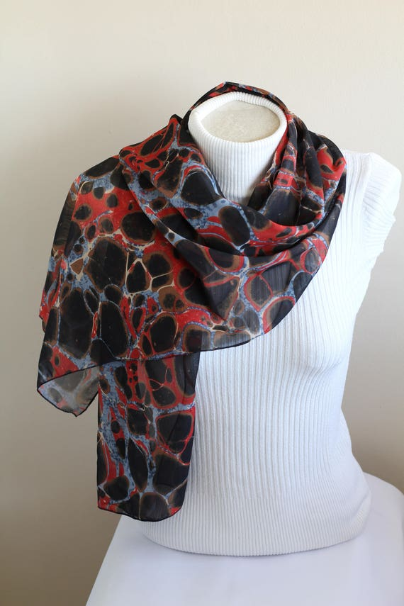 Marble Scarf Print Shawl Mother Birthday Gift Ideas For