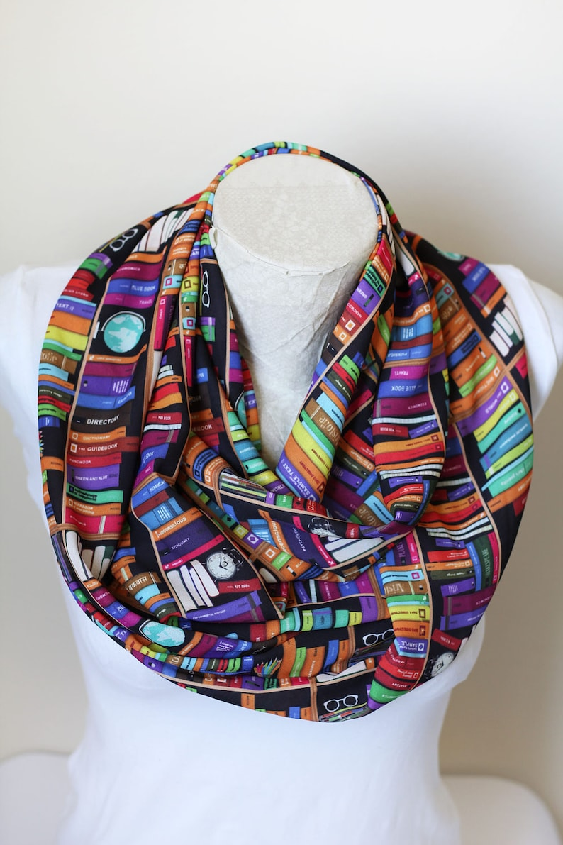 Bookworm Gifts Book Scarf  Book Lover Gift Librarian image 0