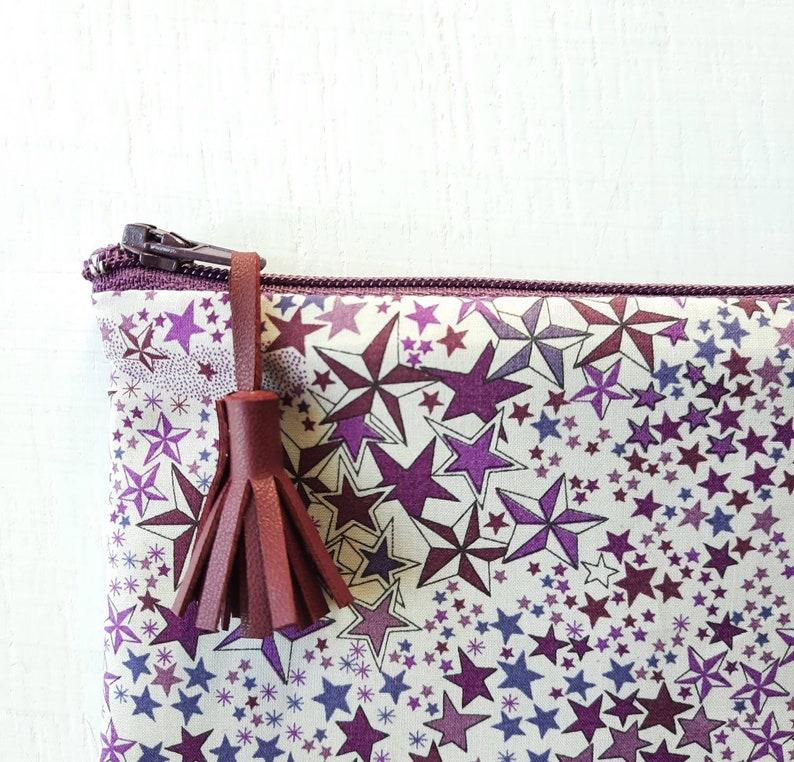 Mini Liberty Adelajda plum fabric pouch