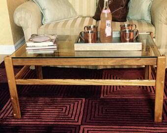 Walnut U0026 Zebrawood Coffee Table