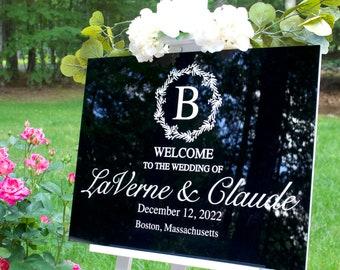 """Black Acrylic Wedding Welcome Sign   18"""" x 24"""" Welcome Black Acrylic Sign   Custom Black Acrylic Welcome Sign"""