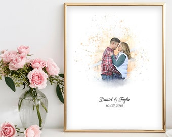 Alternative Guestbook/Watercolor Picture Guest Book/ Picture Turned Watercolor Painting / Digital Download