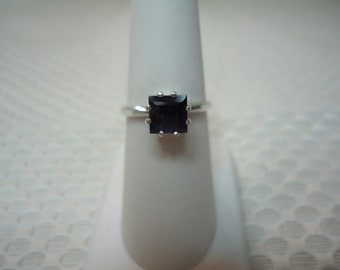 Princess Cut Iolite Ring in Sterling Silver  #2270