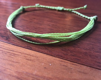 Mental Health Awareness Bracelet Waxed Polyester surfer bracelet, perfect for layering or stacking